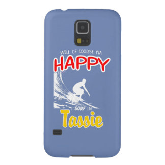 Happy Surfer TASSIE (Wht) Galaxy S5 Cover