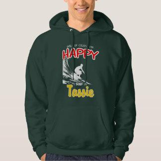 Happy Surfer TASSIE (Wht) Hoodie