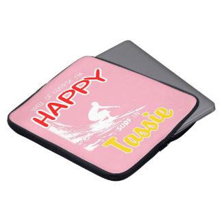Happy Surfer TASSIE (Wht) Laptop Sleeve