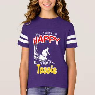Happy Surfer TASSIE (Wht) T-Shirt