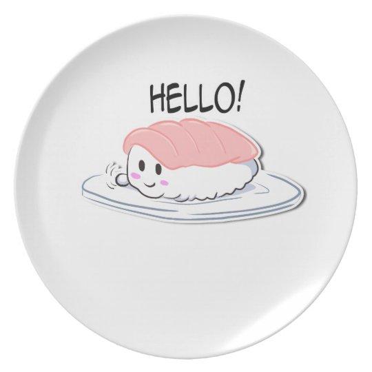 Happy Sushi melamine Plate