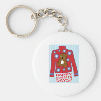 Happy Sweater Day Key Chain