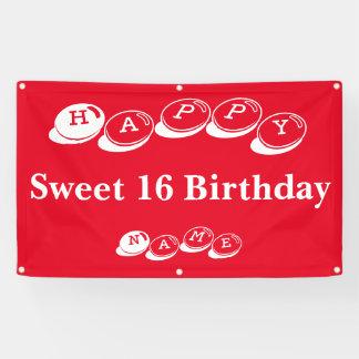Happy Sweet 16 Birthday Banner