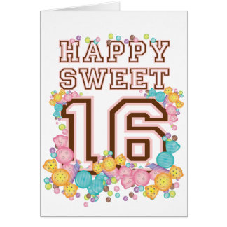Happy Sweet 16 Candy Land Birthday Card
