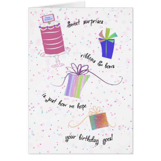 Happy Sweet 16 Ribbons and Bows Birthday Card
