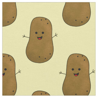 Happy Sweet Potato Fabric