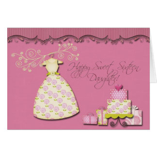 Happy Sweet Sixteen Daughter Greeting Card