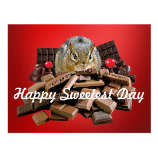 Happy Sweetest Day Chipmunk Postcard