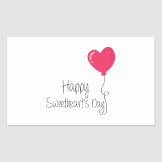 Happy Sweetheart's Day Rectangular Stickers