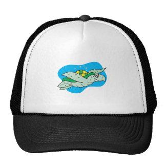 happy swimming sea turtle trucker hat
