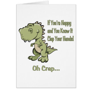 Happy T-Rex Card