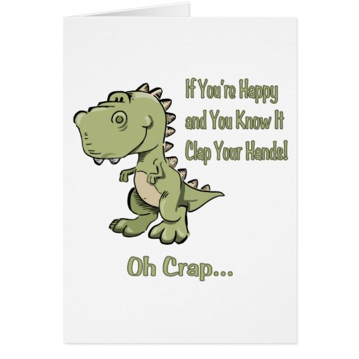 Happy T-Rex Greeting Cards