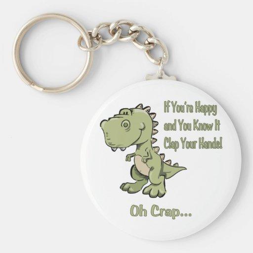 Happy T-Rex Key Chains