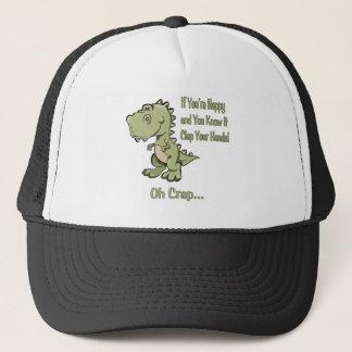 Happy T-Rex Trucker Hat