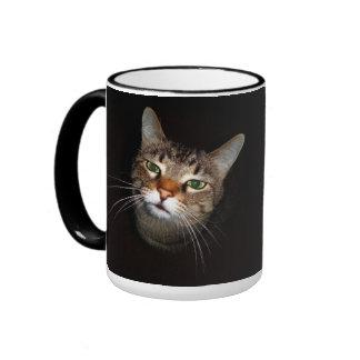 Happy Tabby Wiskers Ringer Coffee Mug