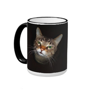 Happy Tabby Wiskers Ringer Mug