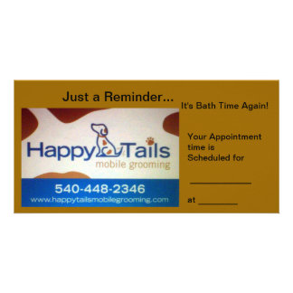 Happy Tails Personalized Photo Card