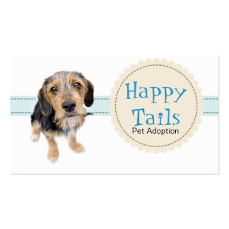 Happy Tails - Pet Adoption Business Card