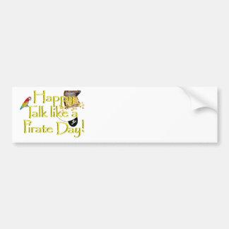 "Happy ""Talk like a Pirate"" Day Bumper Sticker"