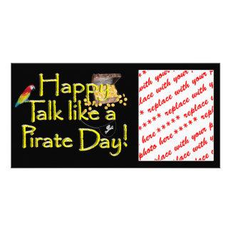 Happy Talk like a Pirate Day Customized Photo Card