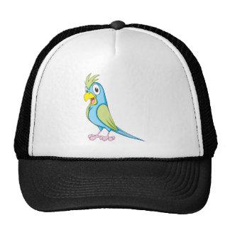 Happy Talking Parrot Mesh Hats
