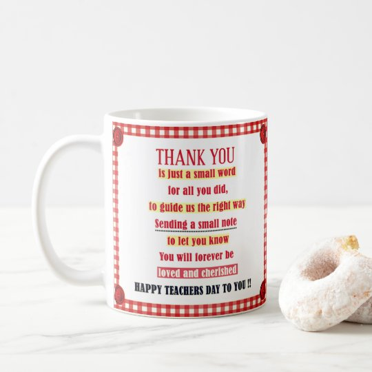 Happy Teacher Day To You Coffee Mug
