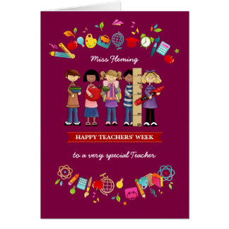 Happy Teachers' Week. Personalized Greeting Cards