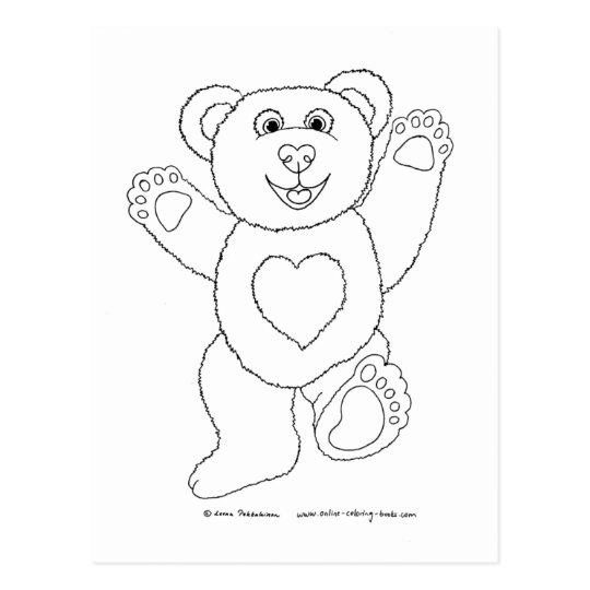 Happy Teddy Postcard
