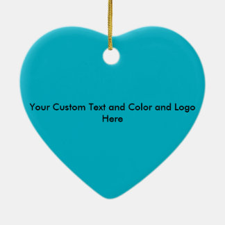 Happy teeth customizable for your Dental practice Ceramic Heart Decoration