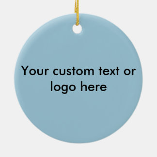 Happy teeth customizable for your Dental practice Round Ceramic Decoration