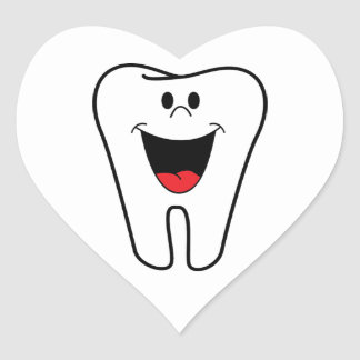 Happy teeth customizable for your Dental practice Heart Sticker