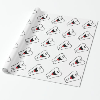 Happy teeth customizable for your Dental practice Wrapping Paper
