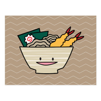 Happy Tempura Ramen Bowl Postcard