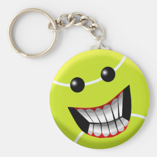 HAPPY TENNIS BALL BASIC ROUND BUTTON KEY RING