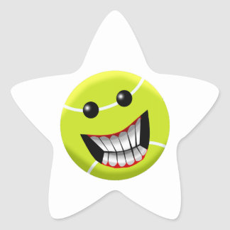 HAPPY TENNIS BALL STAR STICKER
