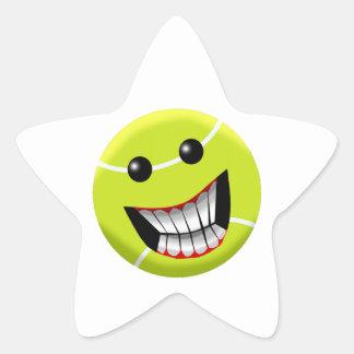 HAPPY TENNIS BALL STAR STICKER