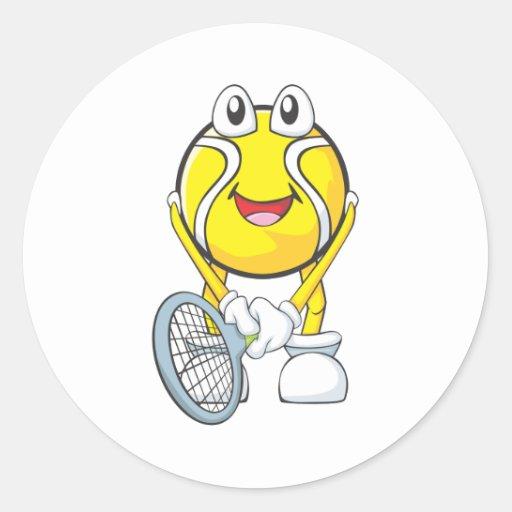 Happy Tennis Ball Sticker