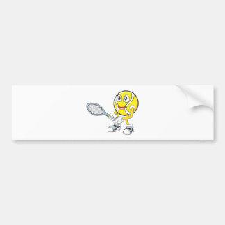 Happy Tennis Player Bumper Stickers