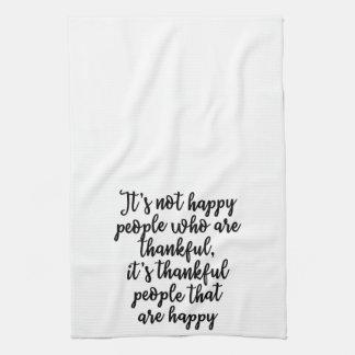 Happy Thankful People Towel