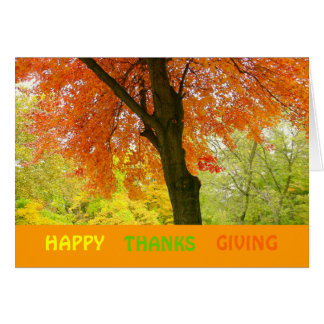 """'HAPPY THANKS GIVING"""" CARD"""