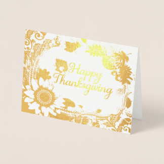 Happy Thanksgiving 13 Foil Card
