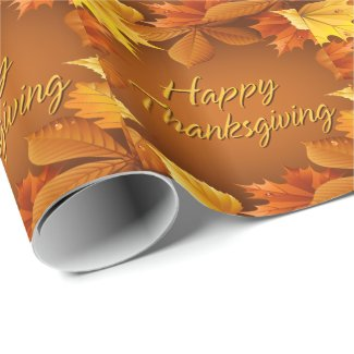 Happy Thanksgiving 1 Wrapping Paper