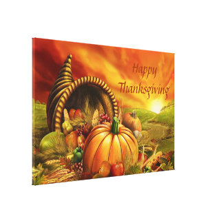 Happy Thanksgiving 2 Wrapped Canvas