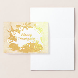 Happy Thanksgiving 5 Foil Card
