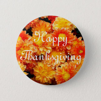 Happy Thanksgiving 6 Cm Round Badge