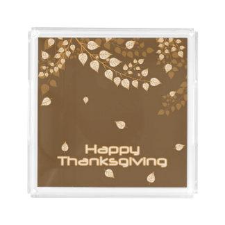 Happy Thanksgiving Acrylic Tray