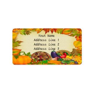 Happy Thanksgiving Address Labels