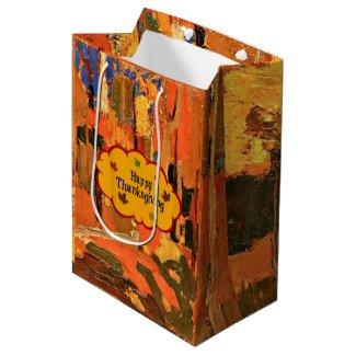 Happy Thanksgiving, Autumn Colours Medium Gift Bag