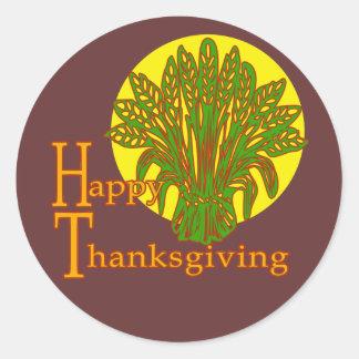 Happy Thanksgiving Autumn Harvest Design Stickers