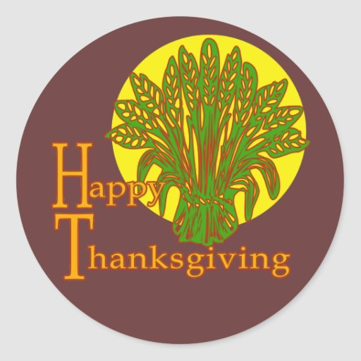Happy Thanksgiving Autumn Harvest Design Stickers